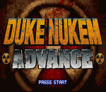 Duke Nukem Advance title screenshot