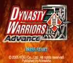 Dynasty Warriors Advance title screenshot