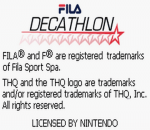 FILA Decathlon title screenshot