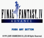 Final Fantasy IV Advance title screenshot