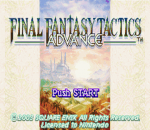 Final Fantasy Tactics Advance title screenshot