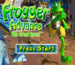 Frogger Advance - The Great Quest title screenshot