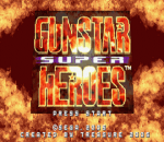 Gunstar Super Heroes title screenshot