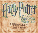 Harry Potter and the Prisoner of Azkaban title screenshot