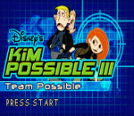 Kim Possible III - Team Possible title screenshot