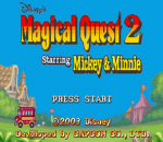 Magical Quest 2 Starring Mickey & Minnie title screenshot