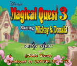 Magical Quest 3 Starring Mickey & Donald title screenshot