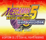 Mega Man Battle Network 5 - Team Proto Man title screenshot