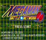Mega Man Battle Network title screenshot