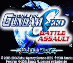 Mobile Suit Gundam Seed - Battle Assault title screenshot