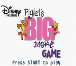 Piglet's Big Game title screenshot