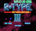 R-Type III - The Third Lightning title screenshot
