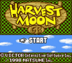 Harvest Moon GB title screenshot