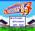 International Superstar Soccer '99 title screenshot