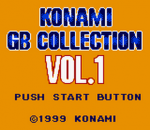 Konami GB Collection Vol.1 title screenshot