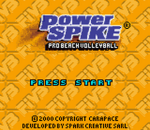 Power Spike - Pro Beach Volleyball title screenshot