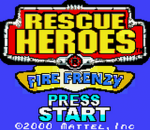 Rescue Heroes - Fire Frenzy title screenshot