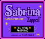Sabrina - The Animated Series - Zapped! title screenshot