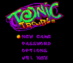 Tonic Trouble title screenshot