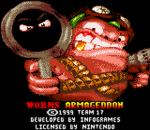 Worms Armageddon title screenshot