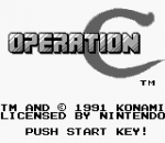 Operation C title screenshot