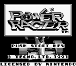 Power Racer title screenshot