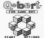 Q-bert for Game Boy title screenshot