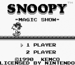 Snoopy - Magic Show title screenshot