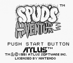 Spud's Adventure title screenshot