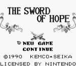 Sword of Hope, The title screenshot