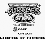 Teenage Mutant Ninja Turtles II - Back from the Sewers title screenshot