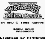 Teenage Mutant Ninja Turtles III - Radical Rescue title screenshot