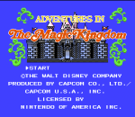 Adventures in the Magic Kingdom title screenshot