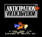 Anticipation title screenshot