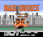 Bad Dudes title screenshot
