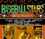 Baseball Stars title screenshot