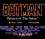 Batman - Return of the Joker title screenshot