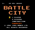 Battle City title screenshot