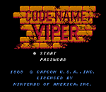 Code Name - Viper title screenshot