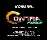 Contra Force title screenshot