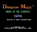 Dungeon Magic - Sword of the Elements title screenshot