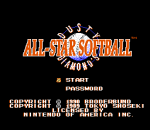 Dusty Diamond's All-Star Softball title screenshot