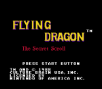 Flying Dragon - The Secret Scroll title screenshot