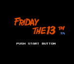 Friday the 13th title screenshot