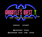 Gargoyle's Quest II title screenshot