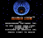 Guardian Legend, The title screenshot