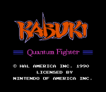 Kabuki - Quantum Fighter title screenshot