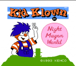 Kid Klown in Night Mayor World title screenshot