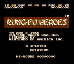 Kung-Fu Heroes title screenshot