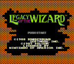 Legacy of the Wizard title screenshot